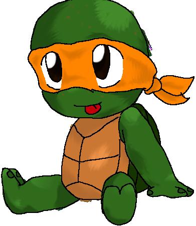 How to draw Cute ninja turtles, Raphael - YouTube  Baby Ninja Turtles Drawings