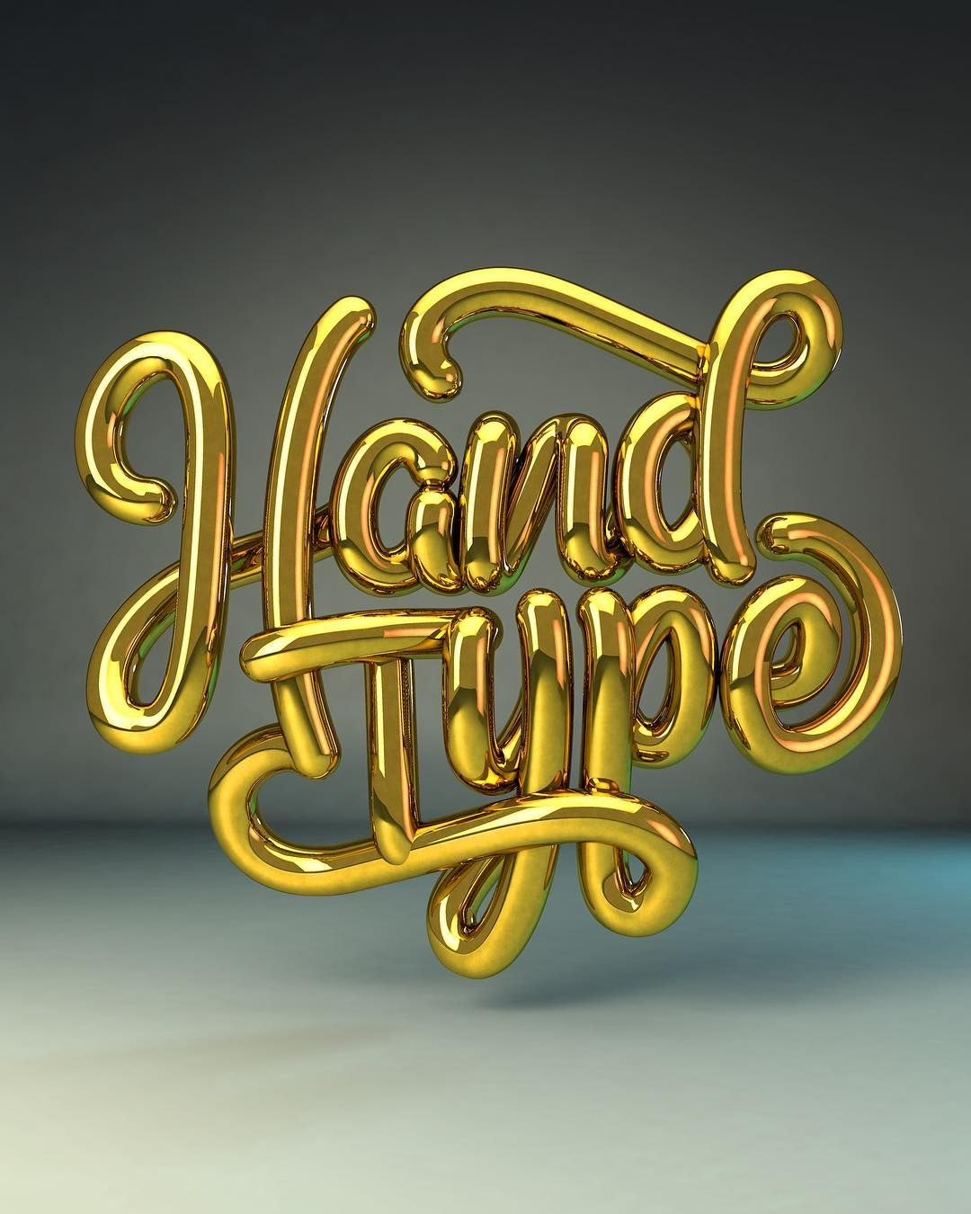 Hand Type / Hand Lettering / Lettering / Gold / Metallic / 3D Lettering by Zane Ruyssenaers