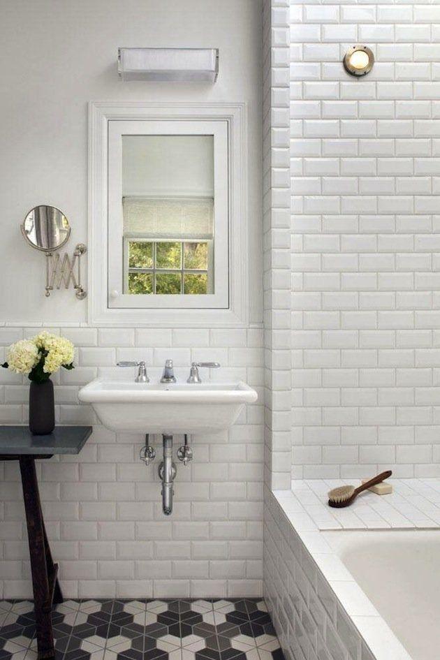 Look We Love Beveled Subway Tile White Beveled Subway Tile Beveled Subway Tile Tile Bathroom