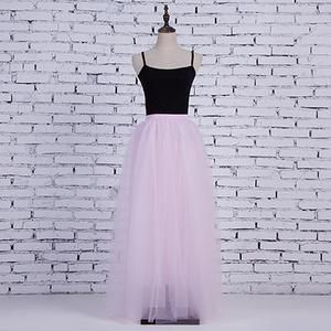 184bf478b2 Fashion Skirt Tulle Skirts Long Womens Maxi Skirts 2018 Spring 4layers Mesh  Pleated