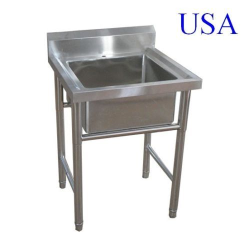 Commercial Kitchen Stainless Steel Sink With Leg Standing One