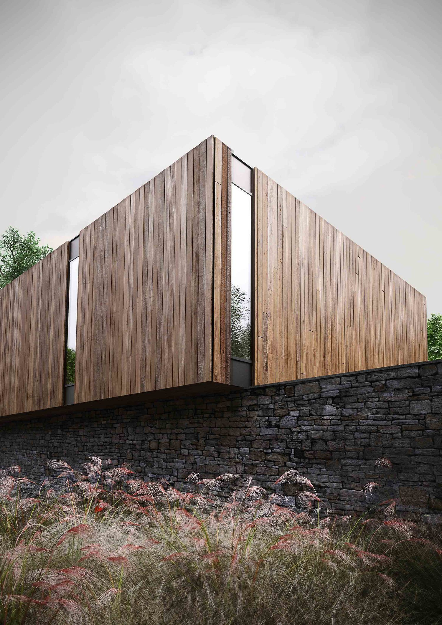Woodland House In 2020 Woodland House Facade Architecture Scandinavian Architecture