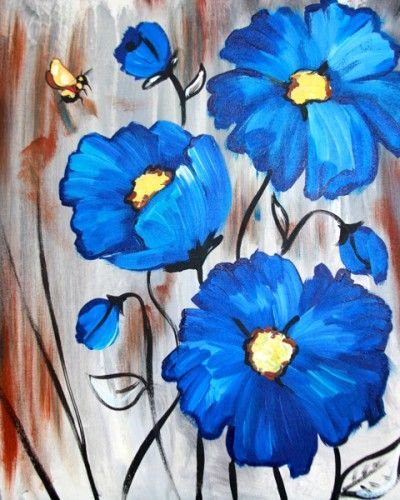 Whimsy Paint and Sip | Jewels | Painting, Easy canvas