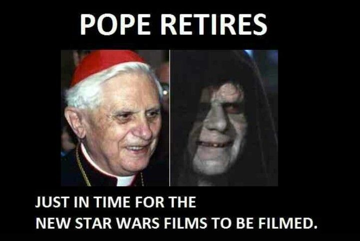 Pope Palpatine Funnies Pinterest Funny Funny Pictures And