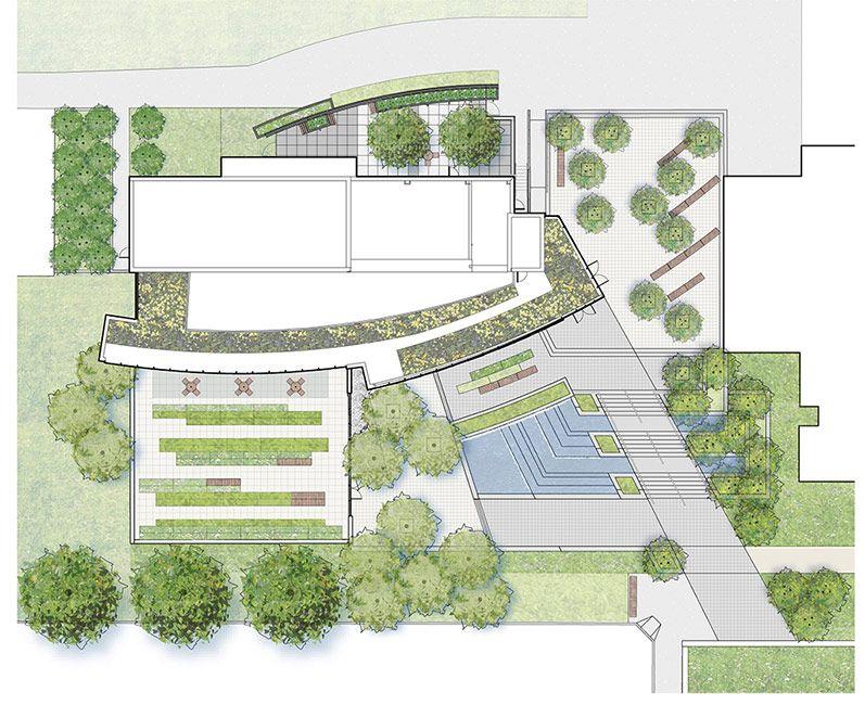 Simons Center Park Dirtworks 12 Site Plan Landscape Architecture