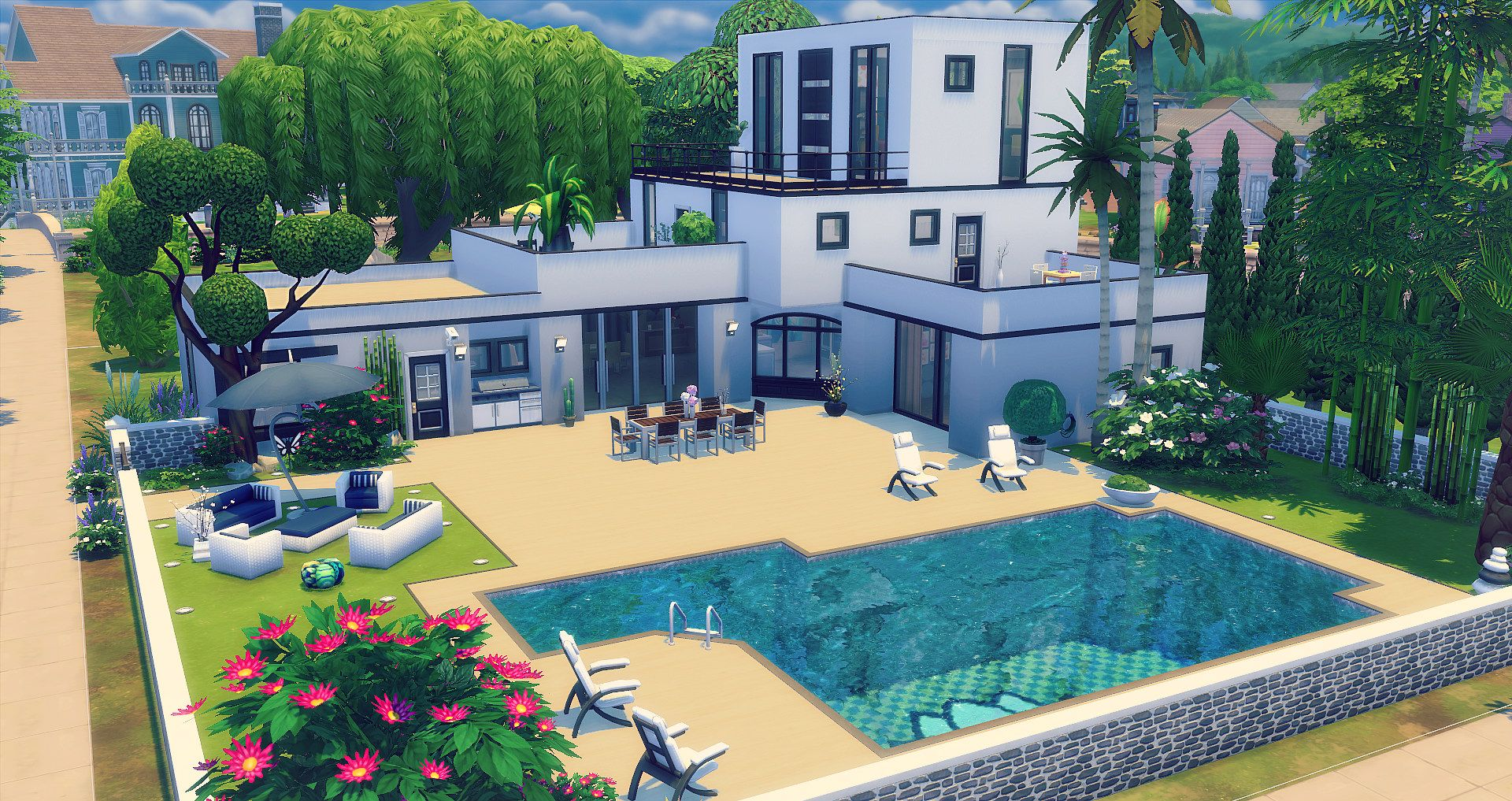 Impressionnant Les Sims 4 Maison A Telecharger And La Revue Sims 4 Penthouse Sims Freeplay Houses Sims House