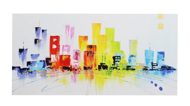 Street - Tableau peinture à l'huile moderne