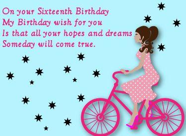 Verjaardagswens Voor Een 16e Verjaardag Verjaardagswensen Sweet