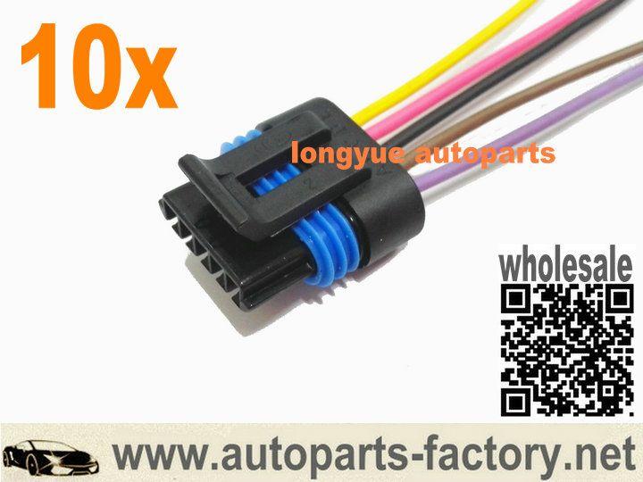 Longyue Longyue 10pcs Engine Egr Position Sensor Connector Wiring Harness 8 Sensor Positivity Engineering