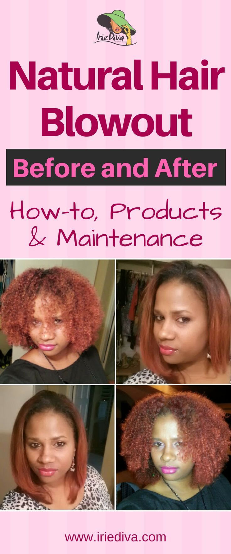 How To Blow Out Natural Hair Before And After Pictures Of Long