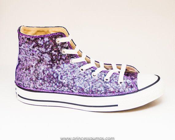 90df859a258d ... uk sequin lavender purple converse hi top canvas by princesspumps c6a58  8d18d