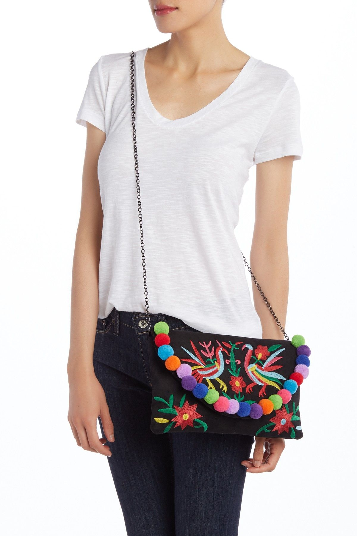 00b70ef6a Morgan Pompom Clutch by Pink Haley on  nordstrom rack