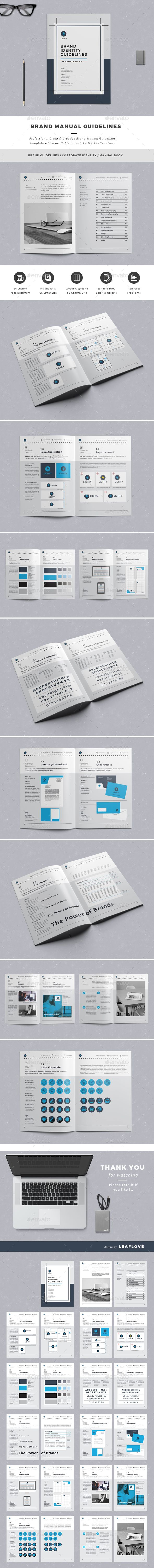 Business Infographic  Brand Manual Guidelines Template Indesign