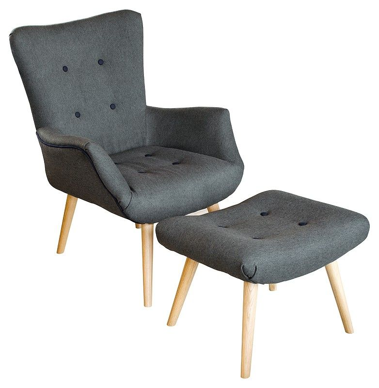 Awesome Scandinavian Style Chair + Footstool   Be Fabulous!