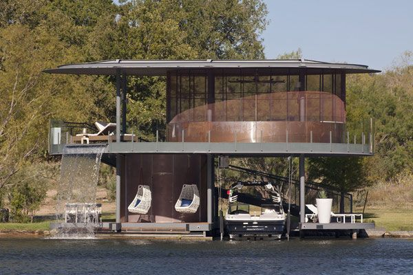 Circular Cottage Plans Awesome Boat House Floating House Boat