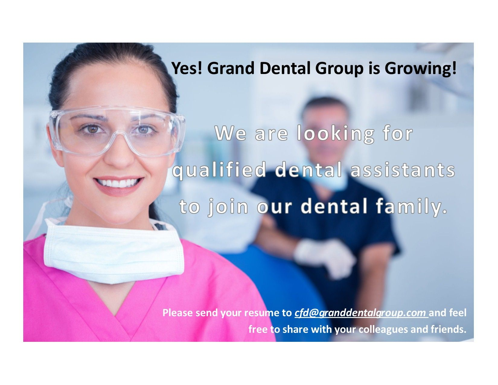 Yes, we are hiring dental assistants in our Illinois