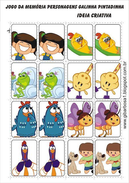 Jogo Da Memoria Personagens Galinha Pintadinha Ideia Criativa Gi Barbosa Educaca Festa Infantil Galinha Pintadinha Galinha Pintadinha Jogo Memoria Infantil