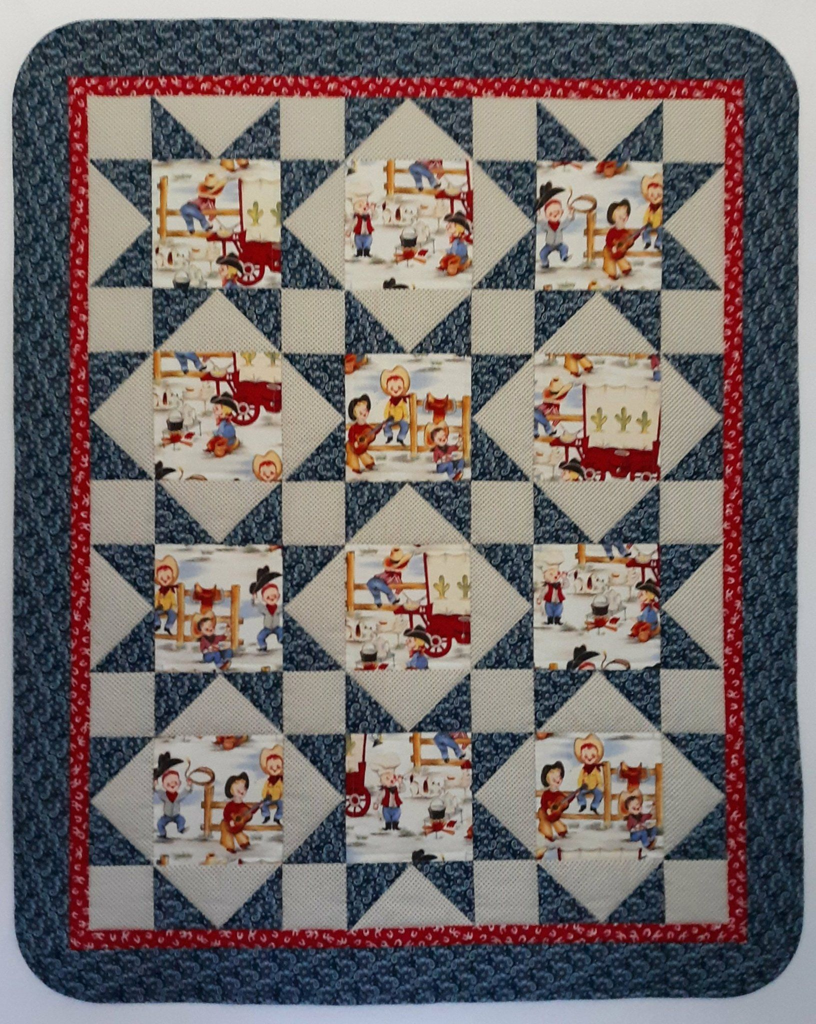 Little Cowboy Western Baby Quilt In 2020 Western Quilts Cowboy Quilt Cute Quilts