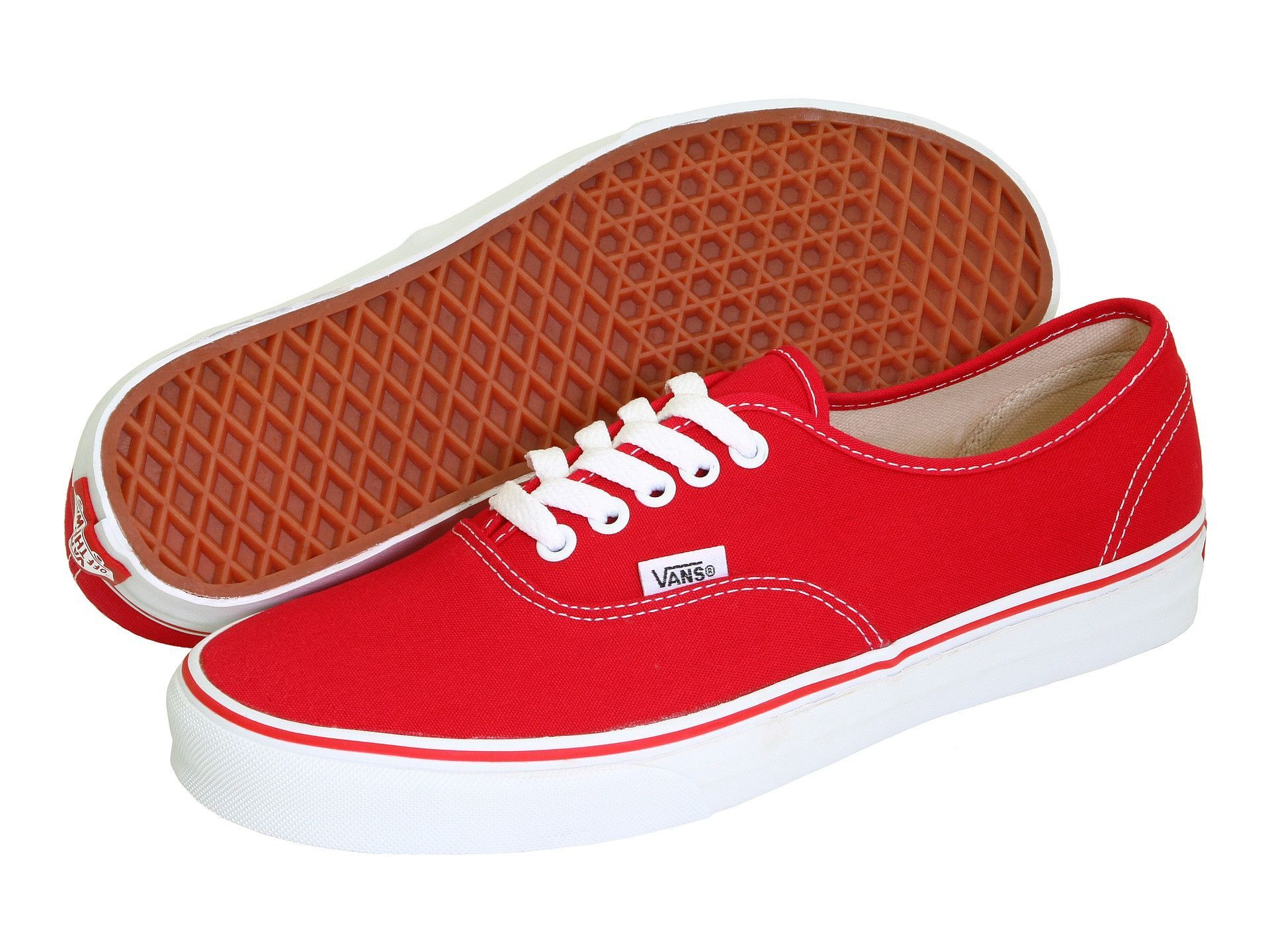 Vans Authentic colour block sneakers - Rojo