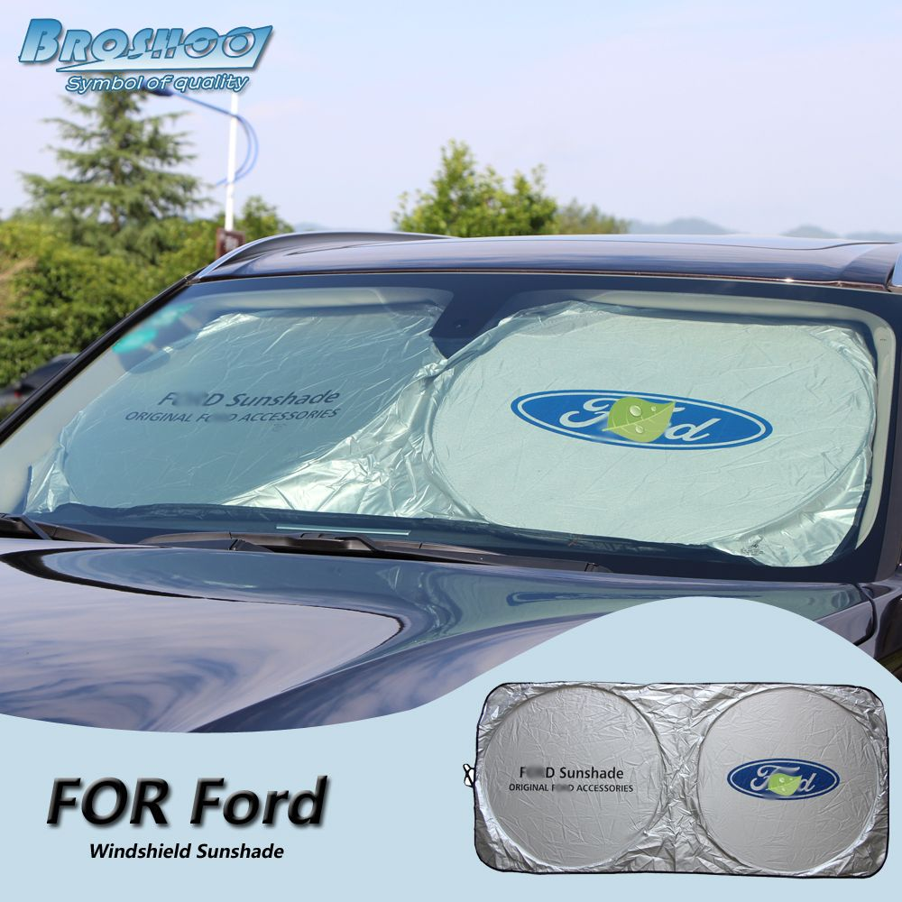 Broshoo Car Windscreen Sunshade Front Window Sun Shade Windshield Visor Cover For Ford Focus Fiesta Kuga Gala Window Sun Shades Windshield Exterior Accessories