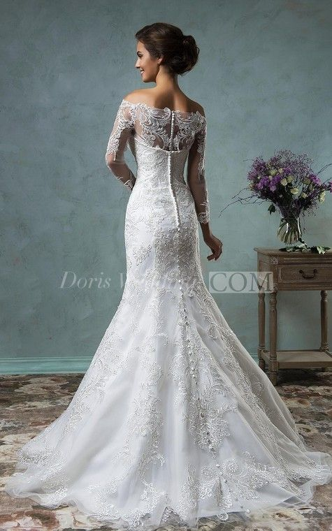 304b1a78 A-Line Mini Off-The-Shoulder Long Sleeve Bell Beading Appliques Button Lace  Sequins Dress