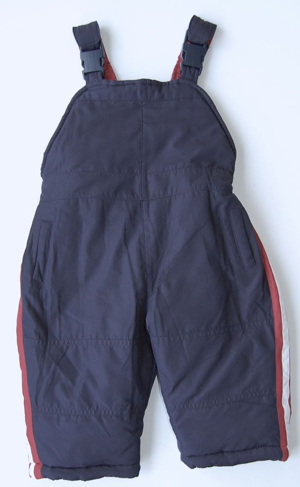 London Fog Snow Pants 12M Navy Blue Red White NWT Zipper Gaiters #LondonFog #SnowPants