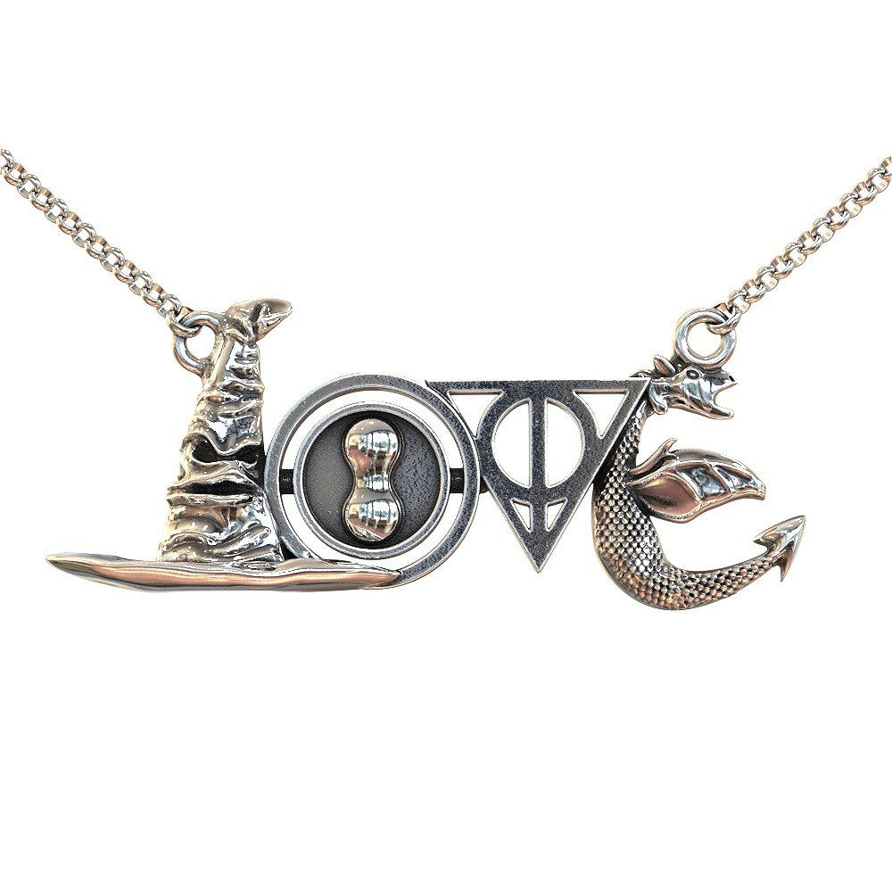 Harry potter wizard love pendant necklace interesting harry potter wizard love pendant necklace aloadofball Image collections