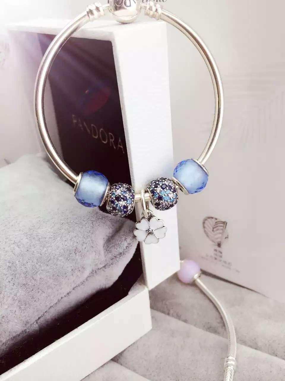 50 off 159 pandora bangle charm bracelet blue flower hot sale 159 pandora bangle charm bracelet blue flower hot sale izmirmasajfo