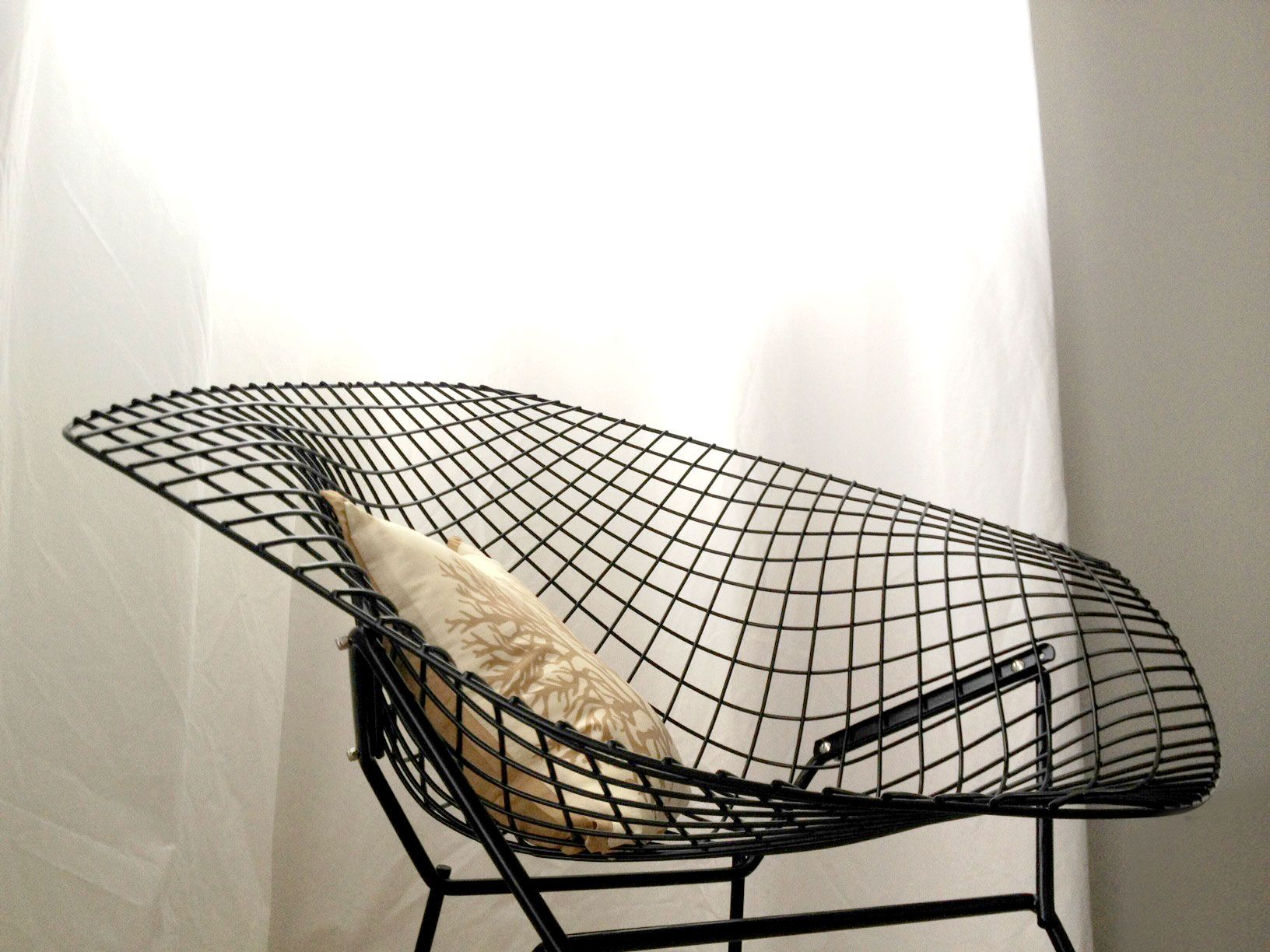 Elegant Our New Chair :)   Vintage Bertoia Diamond Chair (black)