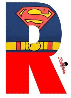 Superman Font Alphabet