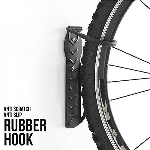 4PCS Bicycle Bike Wall Mount Hook Hanger Garage Storage Holder Rack Stand Black