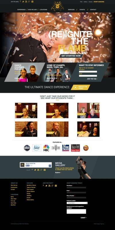 Dance Studio Website Design Website Design Web Design Inspiration Web Design Examples