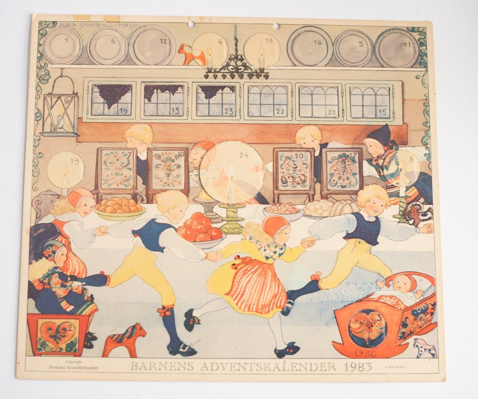 Details About Vintage Barnens Adventskalender 1983 Children S