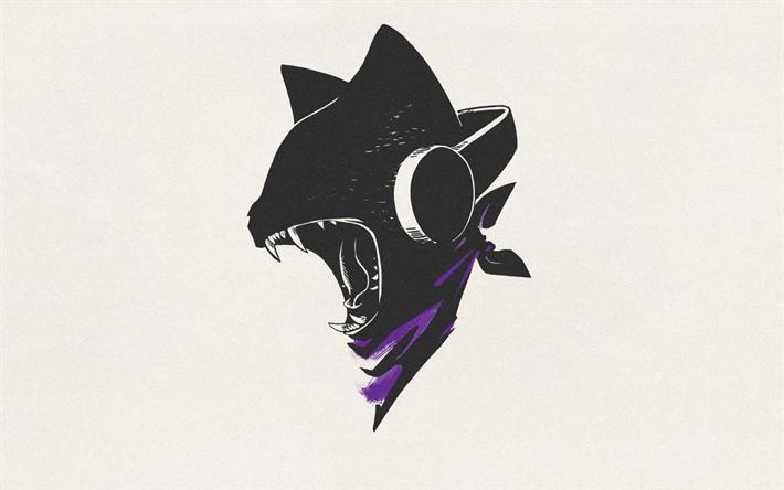 Download wallpapers Monstercat, retro, logo, art | T-shirt