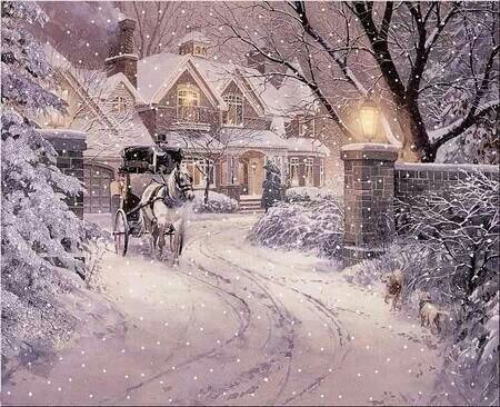 Love a carriage ride! Christmas Pinterest Winter, Scene and