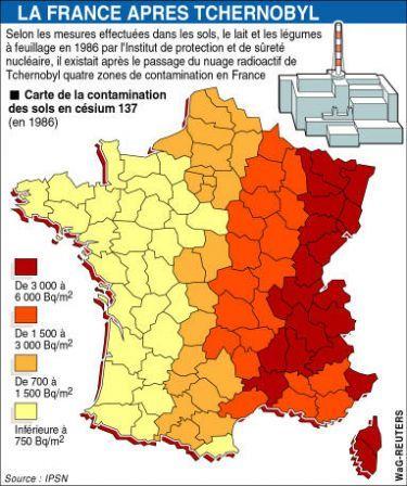 Tchernobyl Carte De La Contamination Des Sols De France Au Cesium