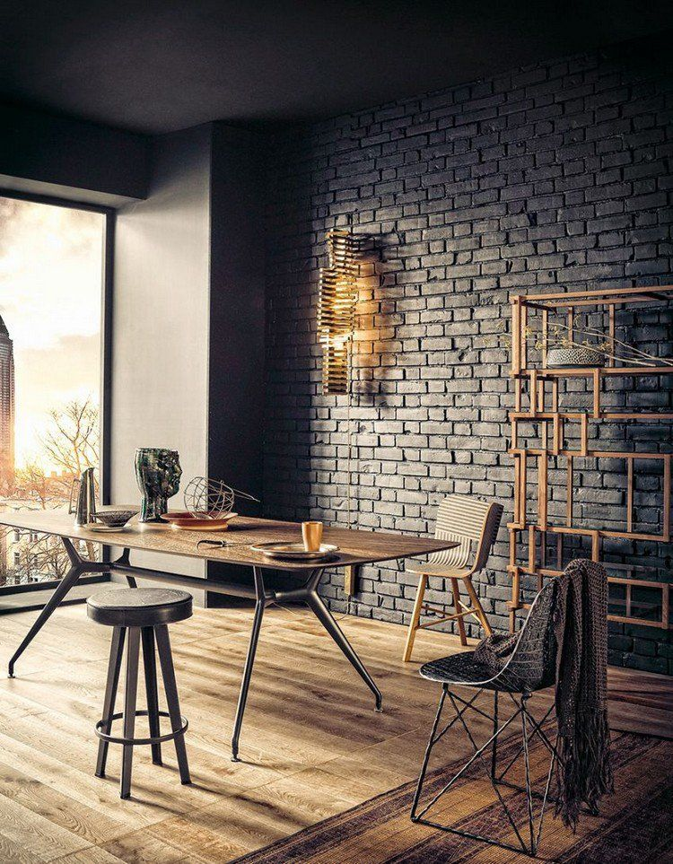 d coration murale industrielle brique de parement mural. Black Bedroom Furniture Sets. Home Design Ideas