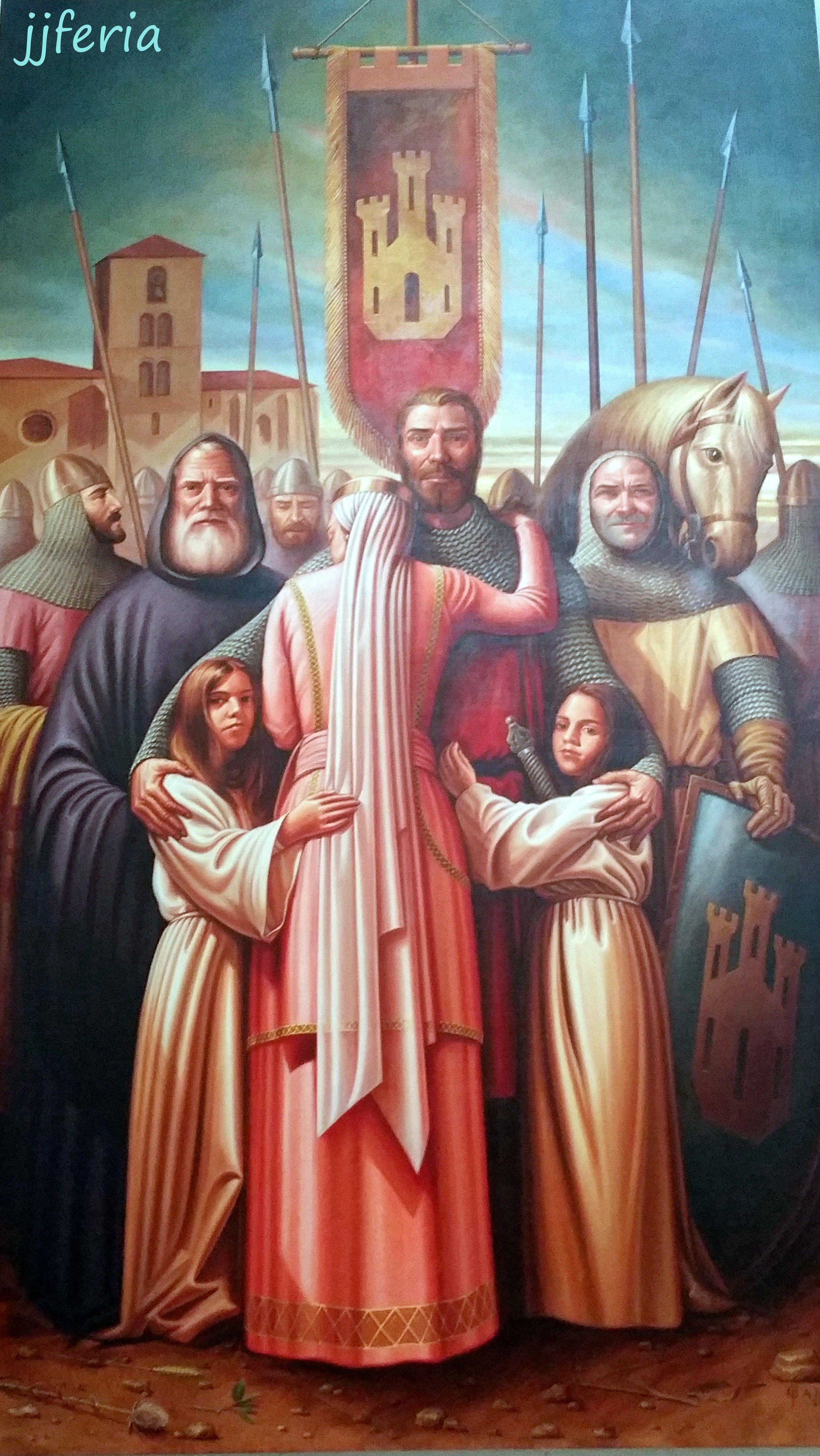 Despedida del Cid de su familia en el Monasterio de San Pedro de Cardeña (foto jjferia)