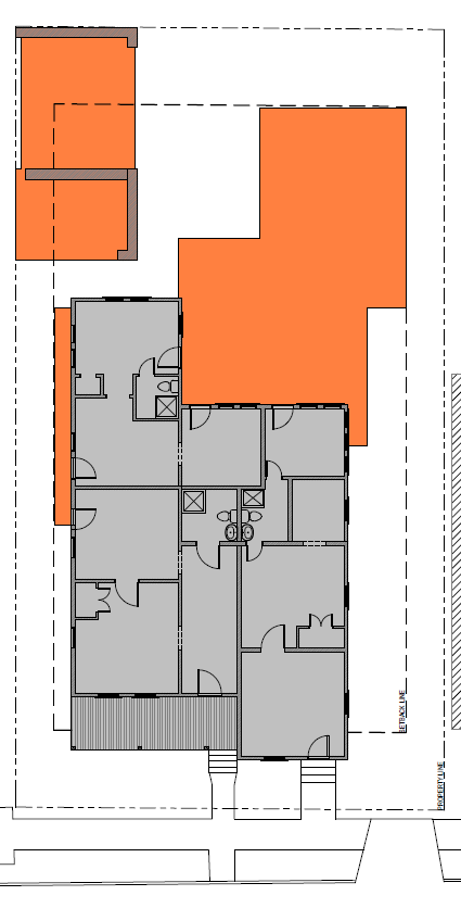 Site Plan With Existing Proposed Massing Site Plan Site Plans Design Resources