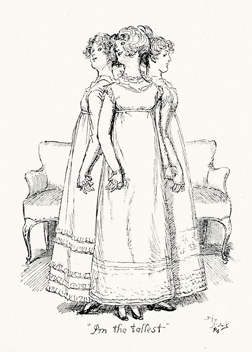 I'm the tallest. Hugh Thomson, from Pride and Prejudice