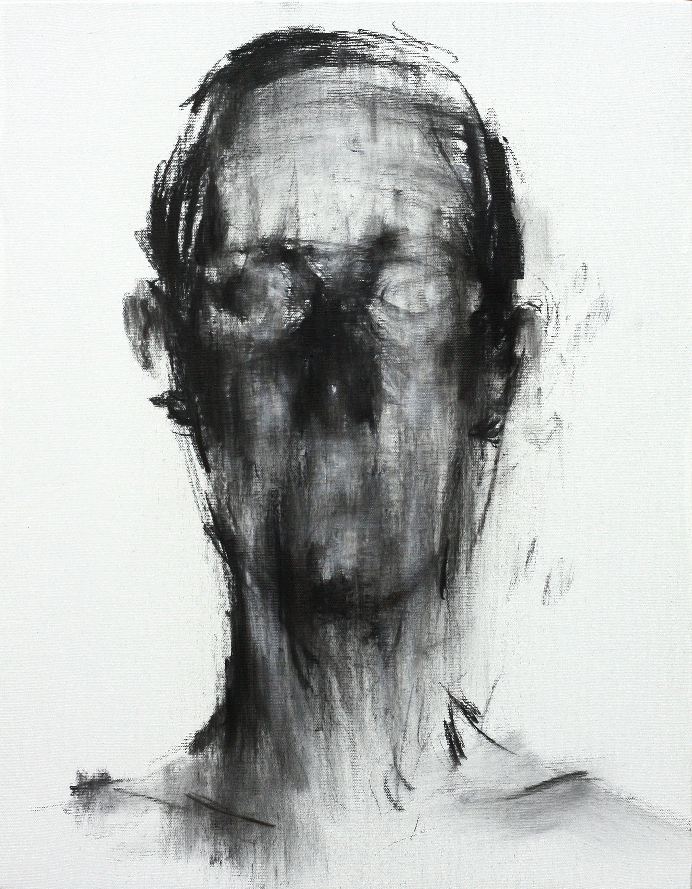 [106] untitled charcoal on canvas 53.2 x 41 cm 2013