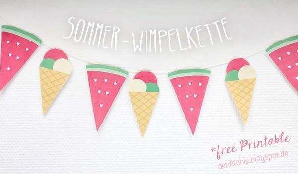 Sommer-Wimpelkette *free Printable