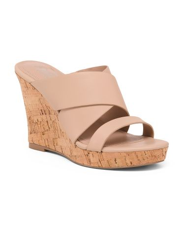 7d2014c250 Cork Wedge Slide Sandals in 2019 | Omg, shoes. | Slide sandals ...