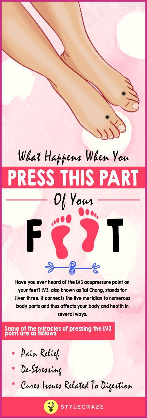 Press This Part Of Your Foot Everyday & See What Happens ...