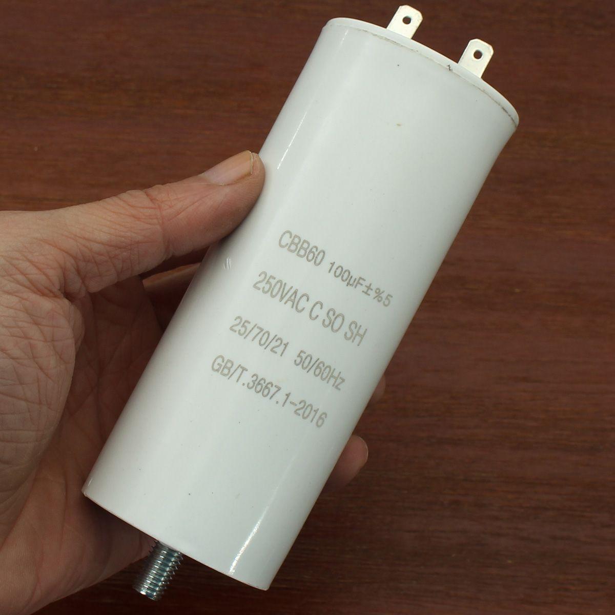 100uf Cbb60 Run Capacitor 250vac 100 Mfd Listed W Fixing Stud Capacitor List Diy Kits