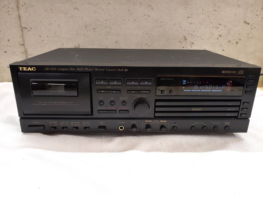 TEAC AD-600 3 CD Disc Player and Cassette Player Recorder NO