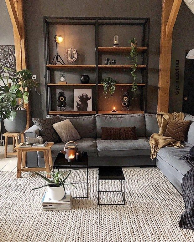 📌 96 Amazing Rustic Apartment Living Room Design Ideas - How to Create A Rustic Living Room D...