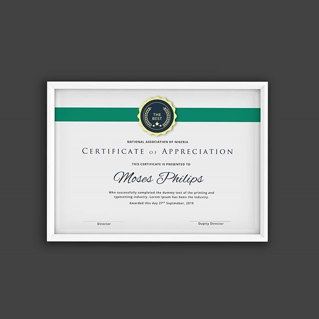 New professional certificate template from scrept 100 designed new professional certificate template from scrept 100 designed in microsoft word using ms word formating system graphicdesigner nigeria flatdesign yelopaper Images