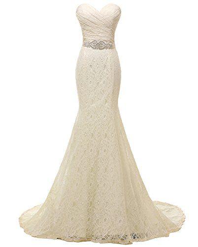 Solovedress Women S Lace Wedding Dress Mermaid Evening Dress