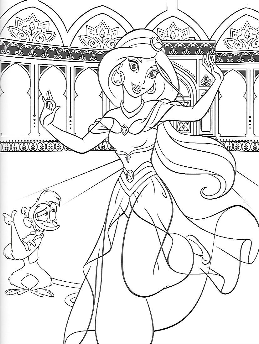 Aladdin Coloring Pages | 1098x827